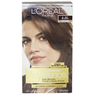Oreal Superior Preference Fade defying #6 Light Brown Hair Color