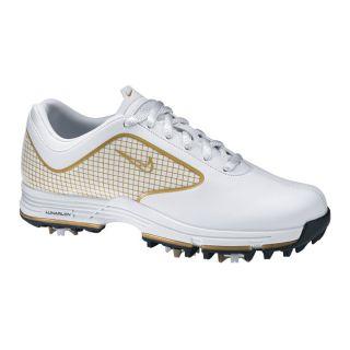 Nike Womens Lunar Links White/ Gold Golf Shoes