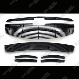 Fits 2011 2013 Chevy Cruze Black Billet Grille Grill Insert Combo