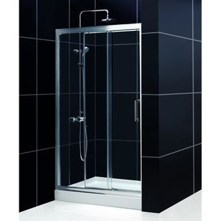 DreamLine Illusion 36x36 inch Trio Shower Base Shower Kit