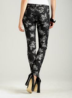 Almost Famous Floral Foil Print Skinny Jean
