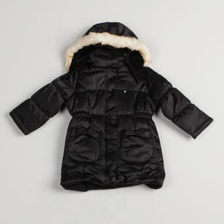 London Fog Girls Black Long Coat