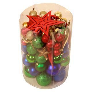 Bright Multi 100 piece Christmas Ornament Kit