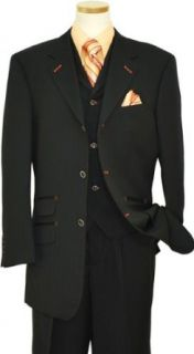 140S Extra Fine Wool Vested Suit HA00117 (US 42L/Euro 52   36 in