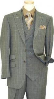 140S Extra Fine Wool Vested Suit 2009.0927/0927 (US 46L/Euro 54   38