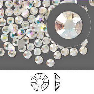 Crystal AB Swarovski Rhinestones FlatBack ss20 (144)