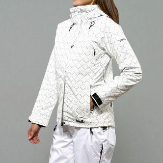 Marker Womens Cosmo Insulated White Diamond Print Ski Jacket
