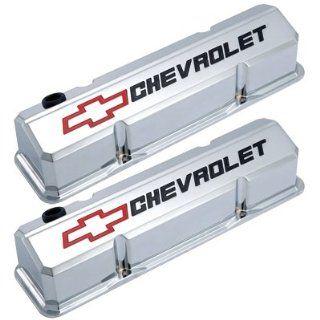 Proform 141 930 Slant Edge Valve Cover Chevrolet And Bow Tie Emblem