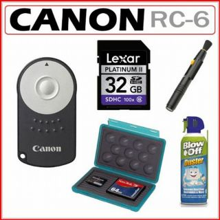 Canon RC 6 Wireless Remote Controller with 32GB Kit