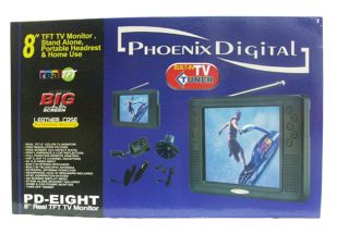 Phoenix Digital 8 inch TFT TV Monitor