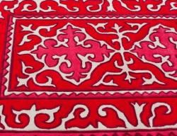 Handmade Spanish Tile Red Rug (76 x 96)