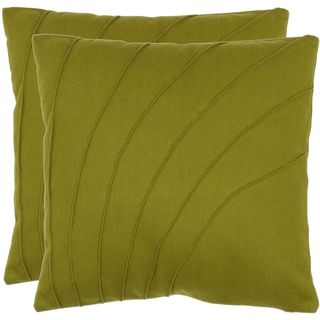 Floral 18 inch Green Decorative Pillows (Set of 2)