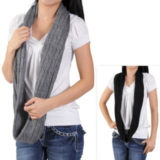 Journee Collection Womens Cable Knit Loop Scarf