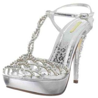 Celeste Womens Mimi 12 Silver High Heels