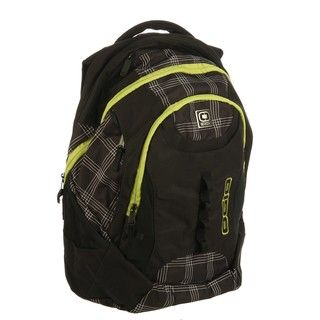 Ogio Privateer Black Plaid Laptop Backpack