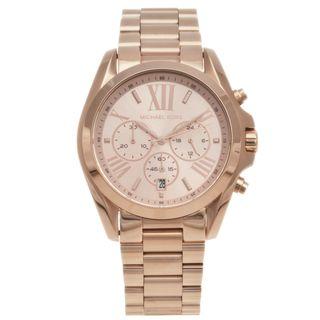 Michael Kors Womens Rose goldtone Bradshaw Chronograph Watch