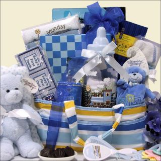 Arrivals Little King Baby Boy Gift Basket Today $170.71