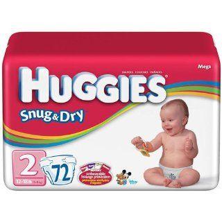 HUGGIES SNUG & DRY DIAPER, SIZE 2, 144/CS, KIC52366