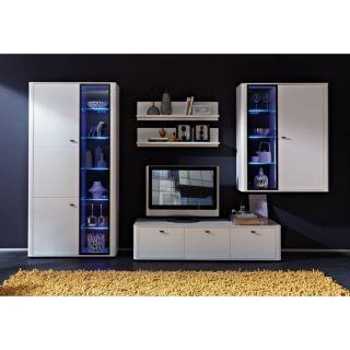 MONZA TV élément bas blanc 160 cm   Achat / Vente MEUBLE TV   HI FI
