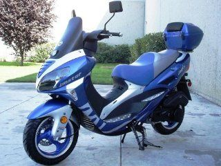 Sunny Powersports MC D150P BLUE Gas 7 HP 150cc Moped