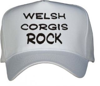 Welsh Corgis Rock White Hat / Baseball Cap Clothing