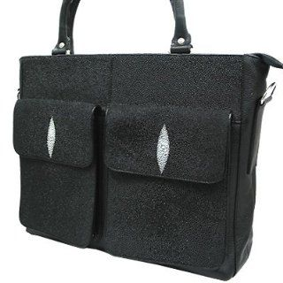 Stingray Leather Tote Bag w/ Front Pockets Shoes