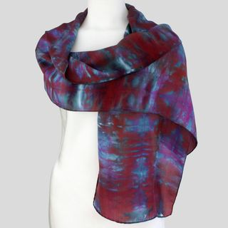 Gypsy River Riches Hand dyed Nightfall Washable Silk Scarf