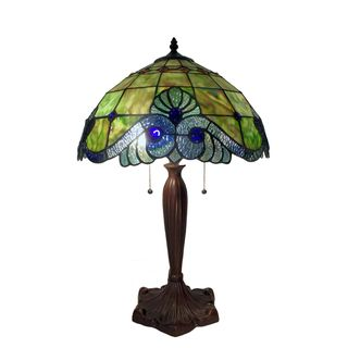 Warehouse of Tiffany Green Geometric Table Lamp