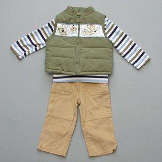 Baby Togs Infant Boys 3 piece Vest Set