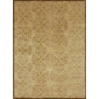 Hand tufted Lionel Gold Wool Rug