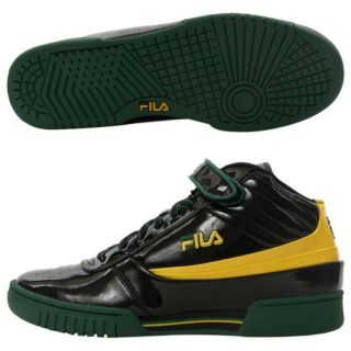 Fila Mens F 89 Black/ Yellow Athletic Shoes