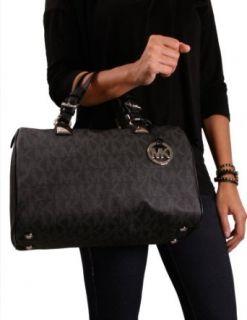 Michael Kors Grayson Womens Handbag Satchel Black