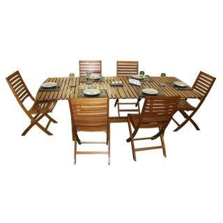 Salon de jardin Evolutif 6 chaises   Achat / Vente SALON DE JARDIN