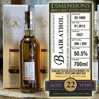 Blair Athol 1989   Embouteillage Dimensions Duncan Taylor  Highlands