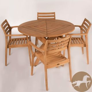 Christopher Knight Home Lombardi Teak Wood 5 piece Outdoor Dining Set