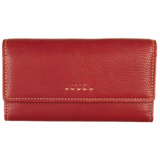 Fossil Womens Popstitch Red Leather Clutch Wallet