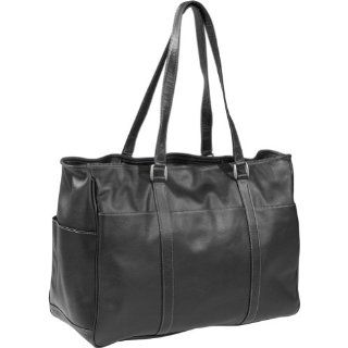 Piel Womens Large Business Tote (Black) Clothing