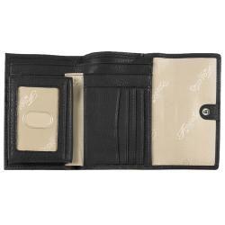Fossil Womens Popstitch Black Leather Tri fold Wallet