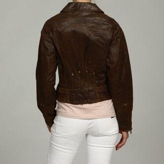 Nine West Womens Leather Three Pocket Jacket FINAL SALE