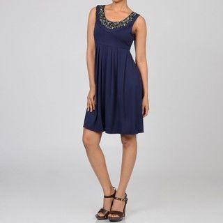 Decode 1.8 Womens Beaded Scoop Neck Day Dress