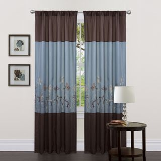 Lush Decor Blue/ Brown 84 inch Butterfly Dreams Curtain Panels (Set of