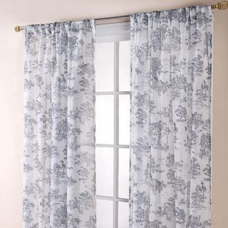 Toile Black/ White 84 inch Sheer Curtain Panels