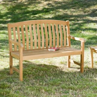 Cade 4 foot Light Brown Bench