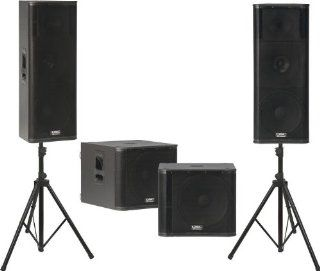 QSC KW153 / KW181 Powered Speaker Dual Sub Package
