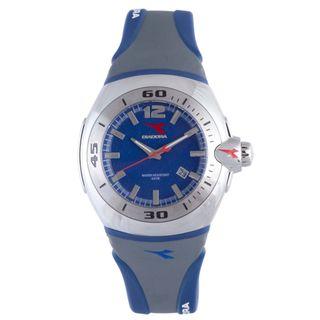 Diadora Mens Grey/ Blue Rubber Date Watch