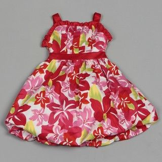 Dorissa Girls Floral Bubble Valerie Dress