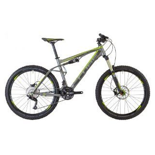 Cube AMS 150 Pro MTB Full Suspension Bike grey/green (2013