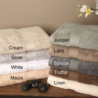 Signature Luxury Egyptian Cotton 6 piece Bath Towel Set