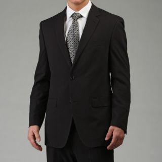 Calvin Klein Mens Black Seersucker Suit