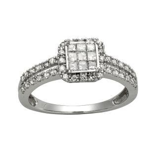 10k White Gold 1/2ct TDW Diamond Engagement Ring (H I, I2 I3